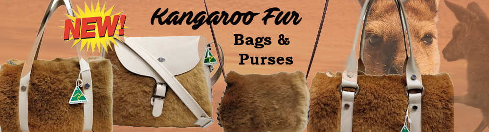 Kangaroo Fur Bags and Purses