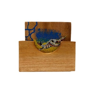 ABORIGINAL SQUARE COASTERS SET - SPONGE ART