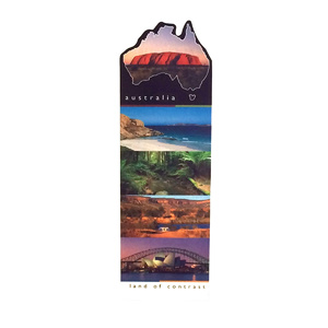 AUSTRALIA - LAND OF CONTRAST DESIGN BOOKMARK