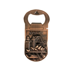MAGNET BOTTLE OPENER - VINTAGE SYDNEY IN COPPER