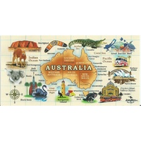 AUSTRALIAN MAP DESIGN BEACH TOWEL