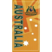 GREEN AND GOLD AUSTRALIA DESIGN BEACH TOWEL