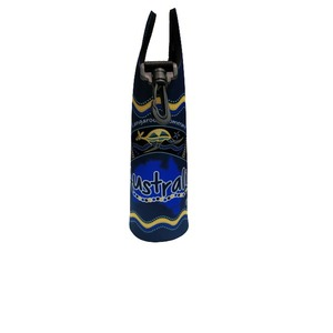 DRINK BOTTLE BAG - BLUE BOOMERANG ABORIGINAL ART