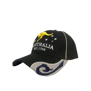 BLACK CAP WITH KANGAROO AND STARS
