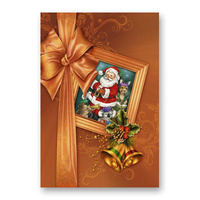 SANTA FRAME WITH AUSSIE ANIMALS CHRISTMAS CARD
