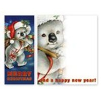 BIG BAG OF PREZZIES KOALA CHRISTMAS CARD - SLIMLINE DESIGN