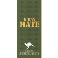 G'DAY MATE - AUSTRALIAN MADE GREETING CARD - SLIMLINE DESIGN