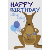 KANGAROO JOEY BIRTHDAY CARD