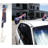 PACK OF 2 AUSSIE CAR FLAGS WITH CLIPS