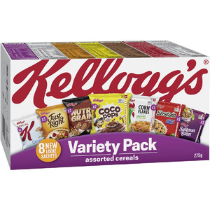 KELLOGG'S VARIETY PACK - 275G (8 ASSORTED CEREALS)