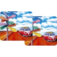 KOMBI ROAD TRIP DESIGN DRINK COASTER PACK