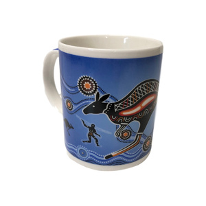 COFFEE MUG - BLUE ABORIGINAL DESIGN