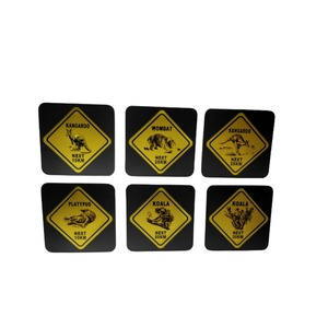 PREMIUM COASTER SET - AUSTRALIAN ROADSIGNS