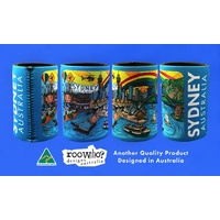 COLOURFUL SYDNEY DESIGN STUBBY DRINK HOLDER - CAN COOLER
