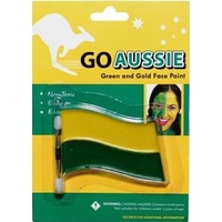GO AUSSIE GREEN AND GOLD FACE PAINT