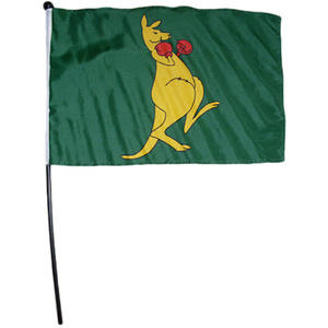 BOXING KANGAROO FLAG ON STICK
