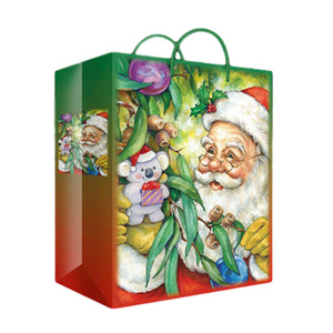 SANTA'S GUM TREE CHRISTMAS GIFT BAG - LARGE SIZE