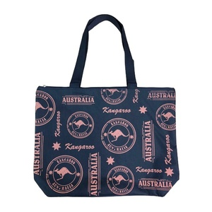 LARGE SHOPPING BAG - KANGAROO STAMPS