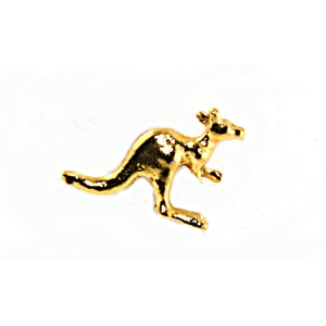 5 X GOLD PLATED KANGAROO & BOOMERANG HAT PINS