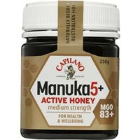CAPILANO MANUKA HONEY MGO83+ - MEDIUM STRENGTH - 250GM JAR