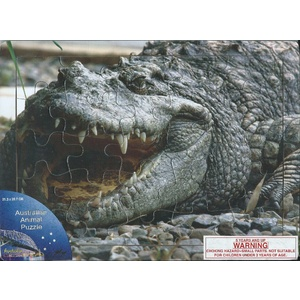 LARGE CROCODILE WOODEN JIGSAW PUZZLE