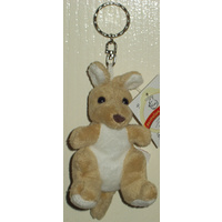 SOFT PLUSH KANGAROO KEY CHAIN