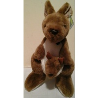 LARGE AUSTRALIAN MADE PLUSH KANGAROO WITH BABY
