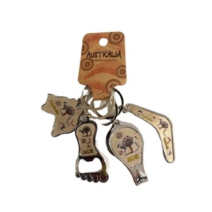 ABORIGINAL DESIGN KEYRING BUNCH - 4 PACK