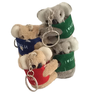 4 CLING-ON KOALA KEY CHAINS