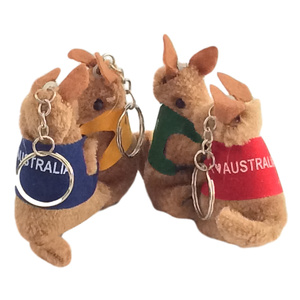 4 CLING-ON KANGAROO KEY CHAINS