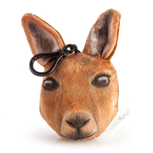 SOFT PLUSH KANGAROO KEY CHAIN WITH SOUND