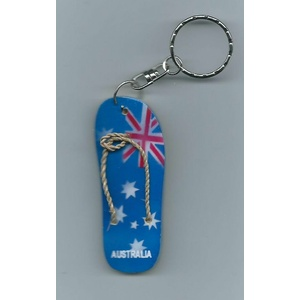 AUSTRALIAN FLAG THONG DESIGN KEY CHAIN