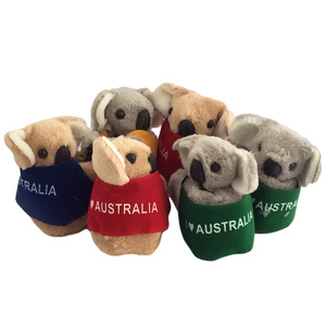 PACK OF 6 LARGE CLING-ON KOALAS