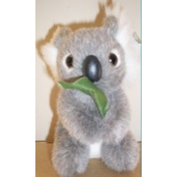 SMALL PLUSH KOALA WITH GUM LEAF - AUSTRALIAN MADE