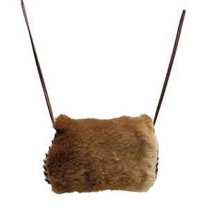MEDIUM KANGAROO FUR SLING BAG
