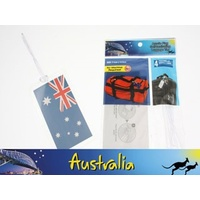 AUSSIE FLAG SELF-LAMINATING LUGGAGE TAGS - PACK OF 4