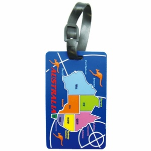 AUSTRALIAN MAP DESIGN LUGGAGE TAG