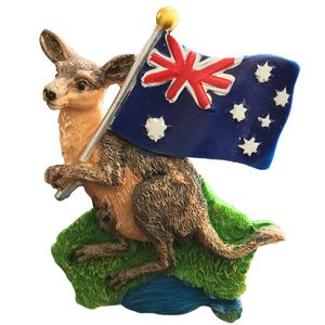 KANGAROO & AUSSIE FLAG FRIDGE MAGNET