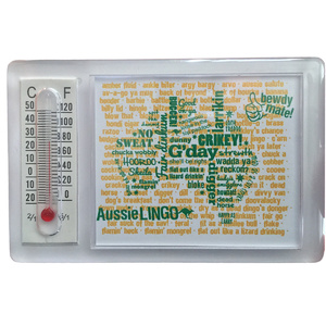 AUSSIE LINGO FRIDGE MAGNET WITH THERMOMETER