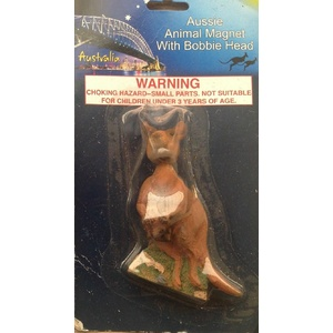 KANGAROO FRIDGE MAGNET WITH BOBBLE HEAD