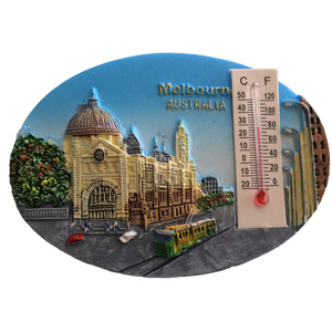 MELBOURNE OVAL FRIDGE MAGNET WITH THERMOMETER