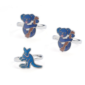 AUSSIE ANIMAL MOOD RINGS - SET OF 3 - 2 KOALA & 1 KANGAROO