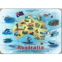 AUSTRALIAN MAP DESIGN MOUSE PAD