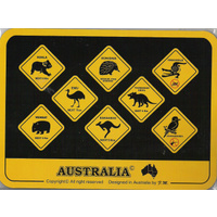 ASSORTED ROAD SIGNS DESIGN MOUSE PAD