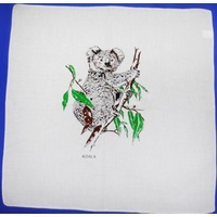 WHITE COTTON KOALA TABLE NAPKIN