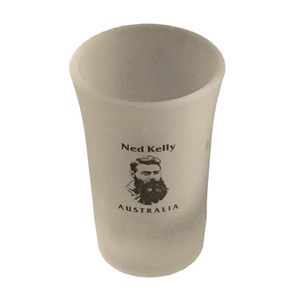 NED KELLY SHOT GLASS - FROSTED WITH NED KELLY HEAD