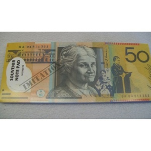 AUSTRALIAN 50 DOLLAR BANK NOTE DESIGN SOUVENIR NOTEPAD