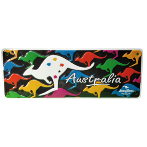 COLOURFUL KANGAROO SOUVENIR NUMBER PLATE