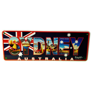 ALL ABOUT SYDNEY SOUVENIR NUMBER PLATE