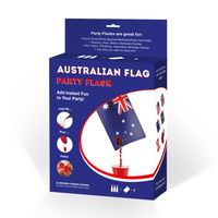 AUSTRALIAN FLAG DESIGN PARTY FLASK - 2 LITRE CAPACITY